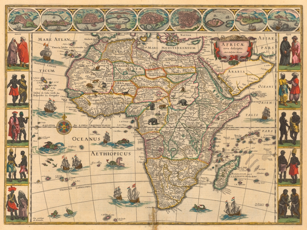 1644 map of Africa