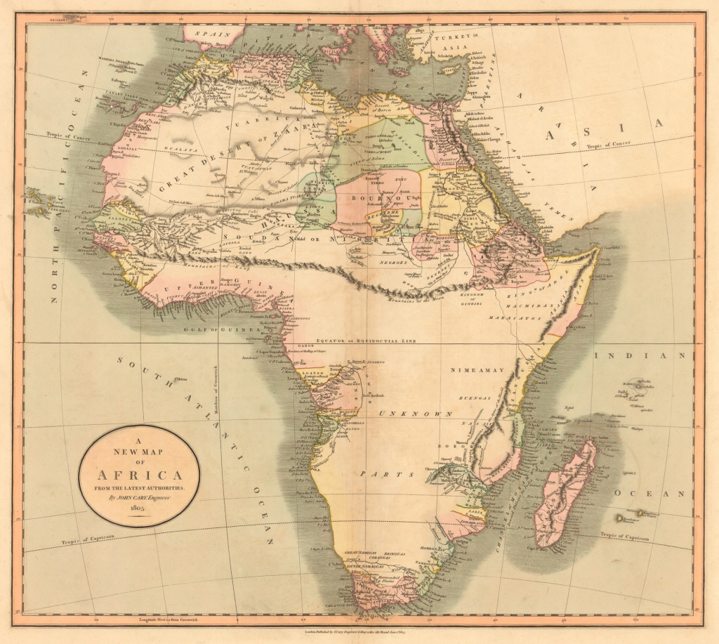 1805 Map of Africa