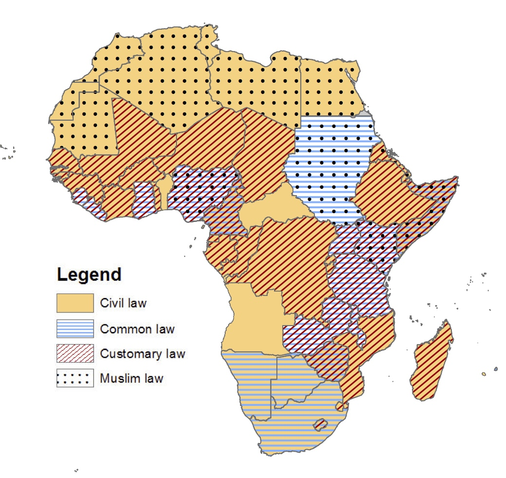 What kind of legal systems are in effect in Africa? – Rachel Strohm