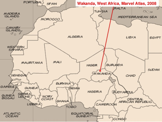 africa map of wakanda