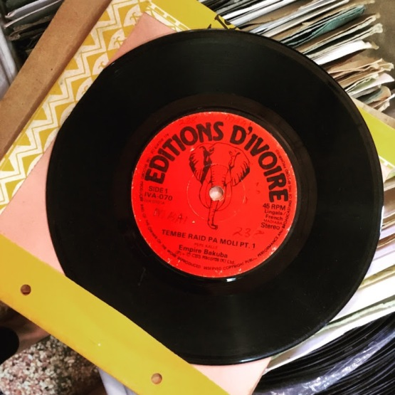 "The photo shows a record labelled ""Editions d'Ivoire"""