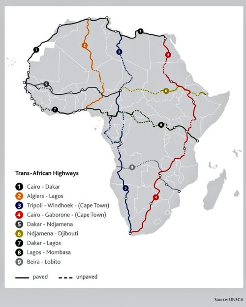 3 trans african highways