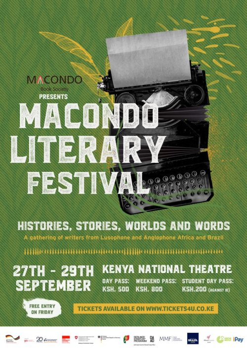 An ad for the Macondo Literary Festival, which brings writers from Lusophone Africa and Brazil to Nairobi, from 27 - 29 September